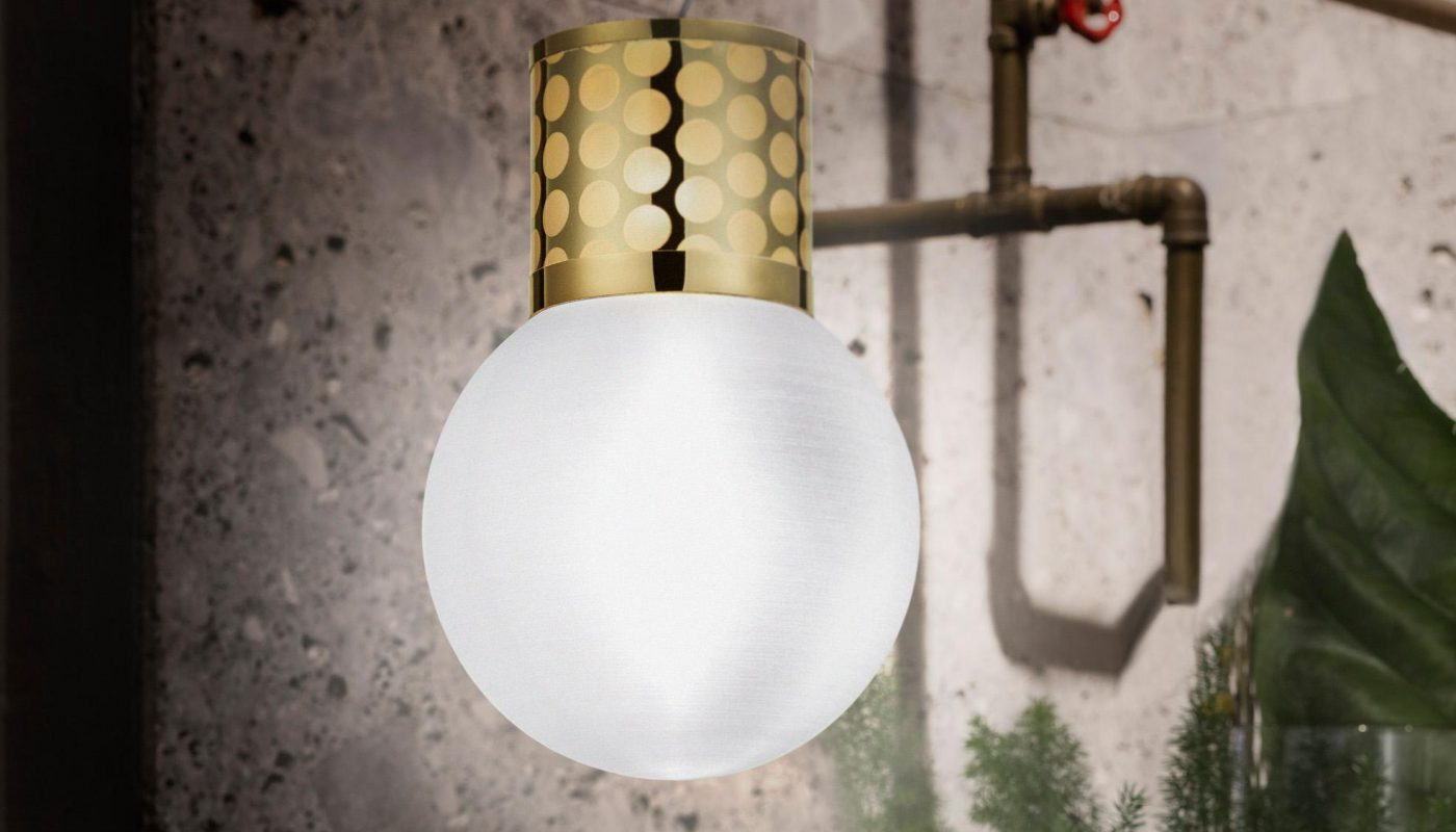 SLAMP Atmosfera Suspension Gold by Lorenza Bozzoli